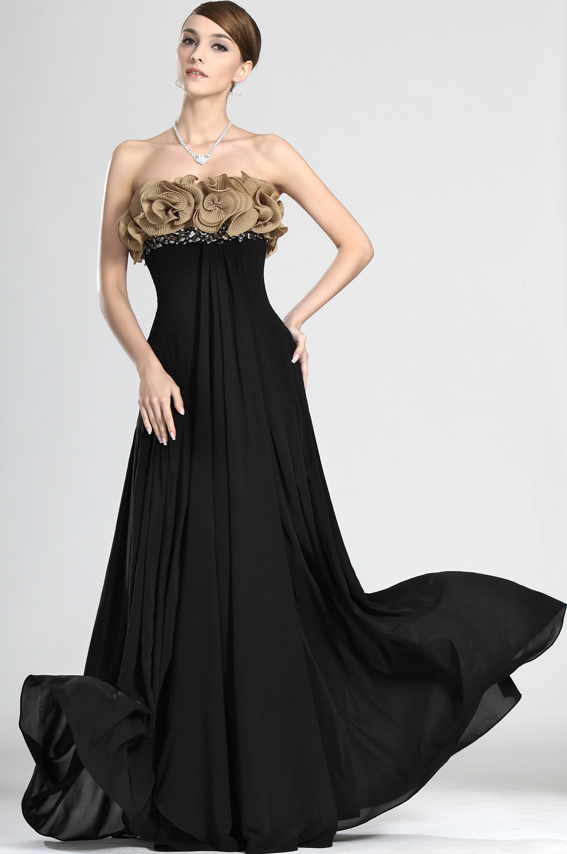 98bcdb29d0c Robe noir soirée robe longue ceremonie femme