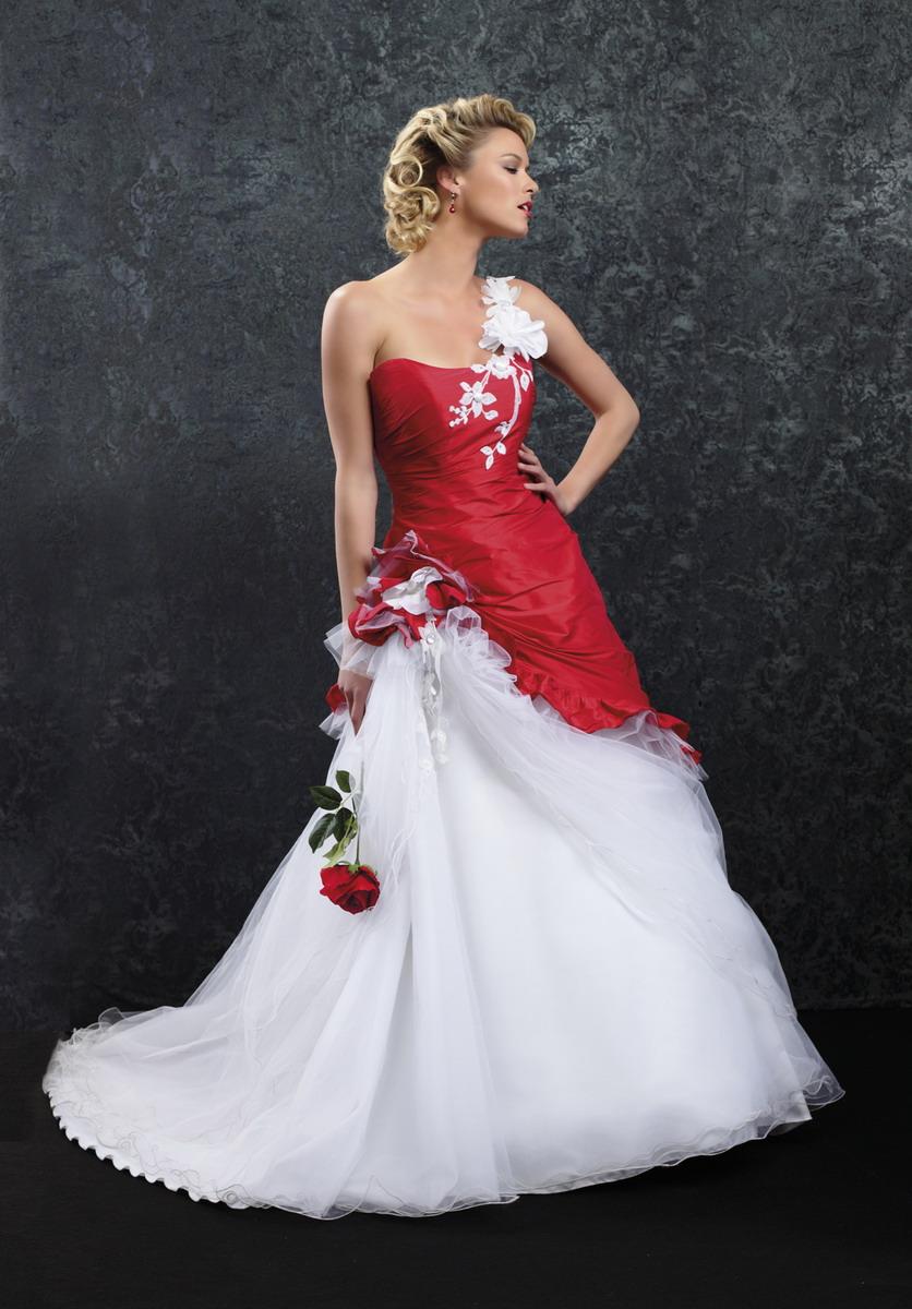 Robe blanche et rouge pas cher