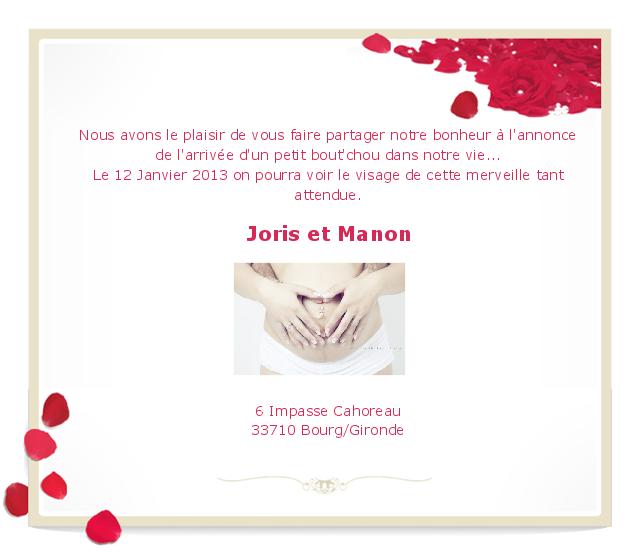 Bekannt Faire part grossesse - La boutique de Maud OD71