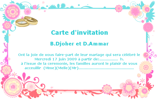 mod le carte d invitation mariage la boutique de maud. Black Bedroom Furniture Sets. Home Design Ideas