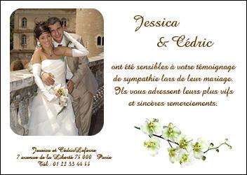 billet d invitation mariage - Exemple Texte Carte De Remerciement Mariage
