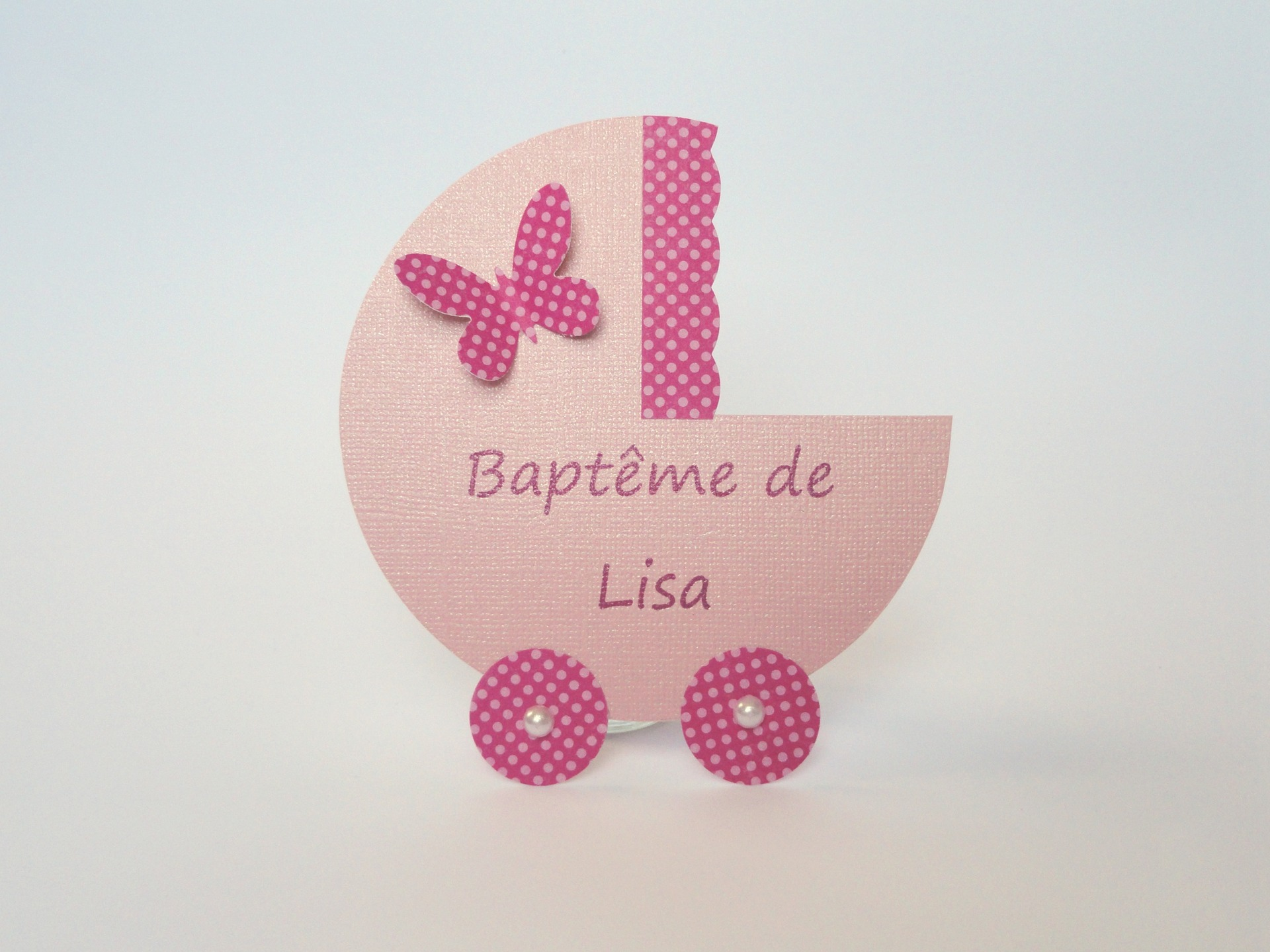Super Faire part de bapteme fille - La boutique de Maud TB34