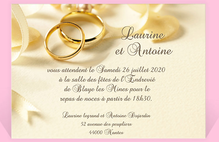 Super Invitation fiancaille - La boutique de Maud DW74