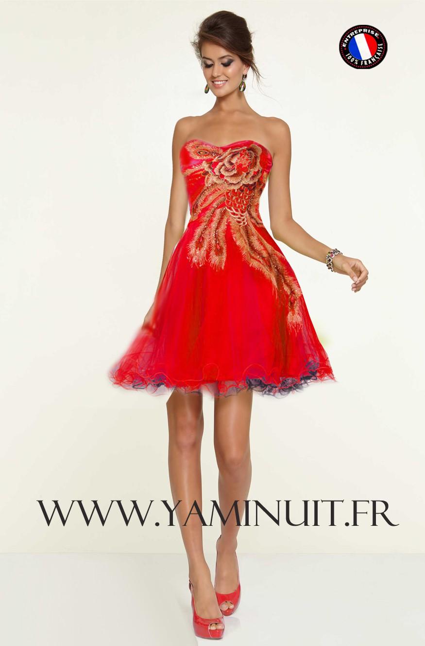 une robe rouge mariage la boutique de maud. Black Bedroom Furniture Sets. Home Design Ideas