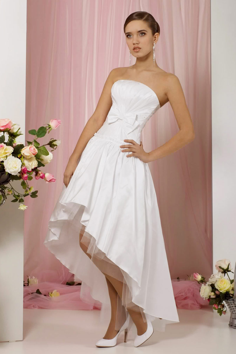 robe mariage simple court