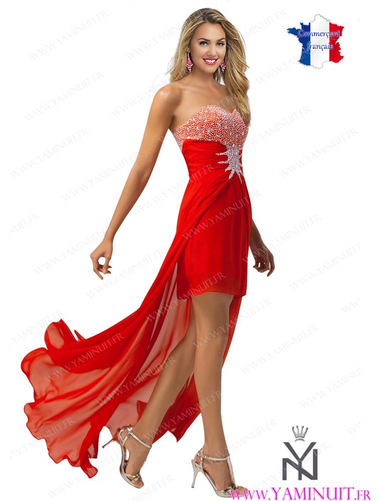 une robe rouge courte soir e la boutique de maud. Black Bedroom Furniture Sets. Home Design Ideas