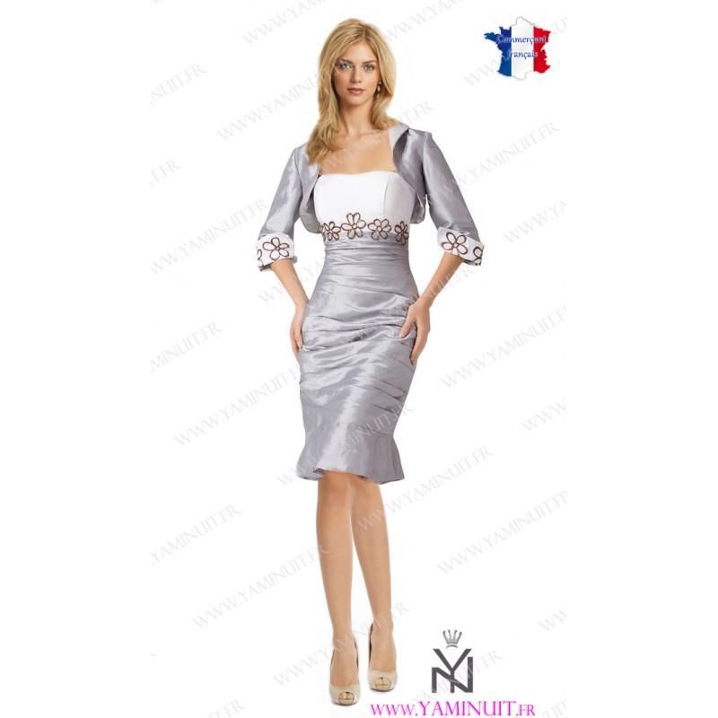Une robe pour mariage grise la boutique de maud for Robe formelle grise pour mariage