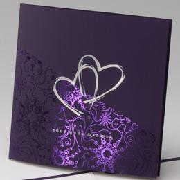 faire part mariage violet et blanc la boutique de maud. Black Bedroom Furniture Sets. Home Design Ideas