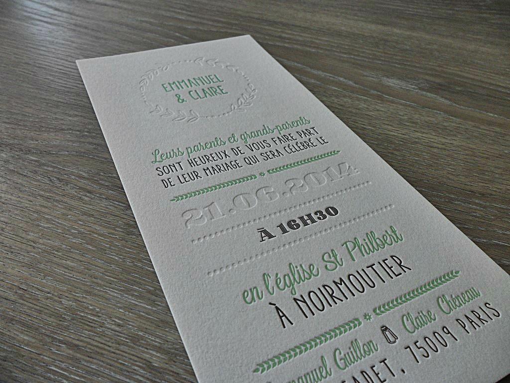 impression invitation mariage la boutique de maud. Black Bedroom Furniture Sets. Home Design Ideas