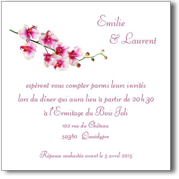 carton invitation mariage original la boutique de maud. Black Bedroom Furniture Sets. Home Design Ideas