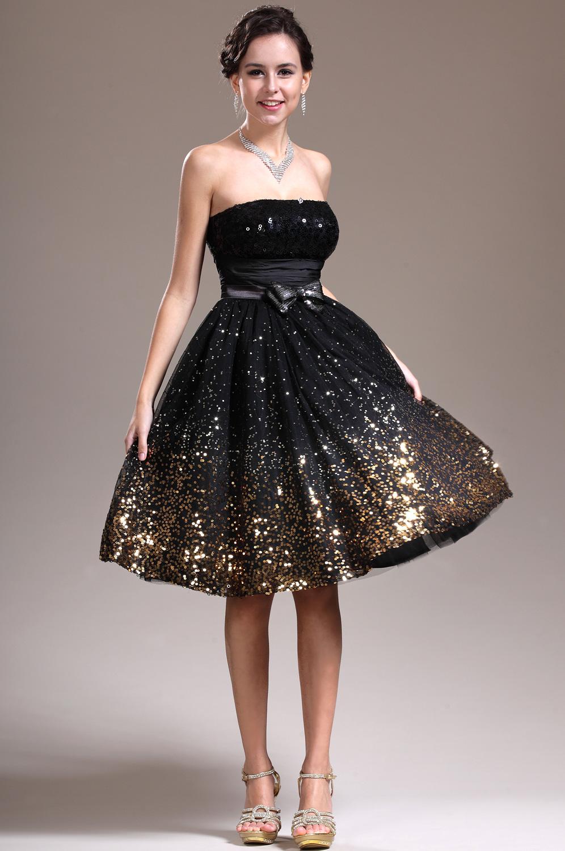 e52525436d0 Une robe de bal noire courte - La boutique de Maud