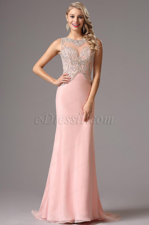 5512b50f814 Une robe de soirée rose - La boutique de Maud
