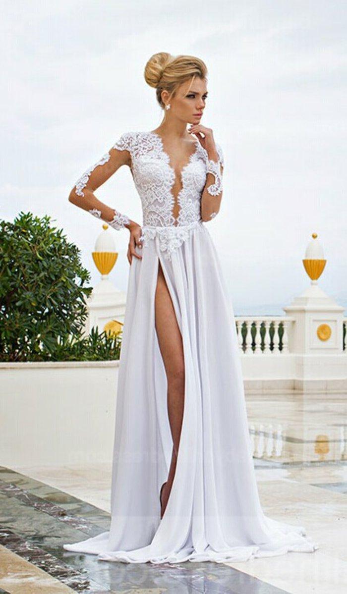 de86fce121b Voici une sélection de robe de soirée pour vous    . Une robe blanche longue