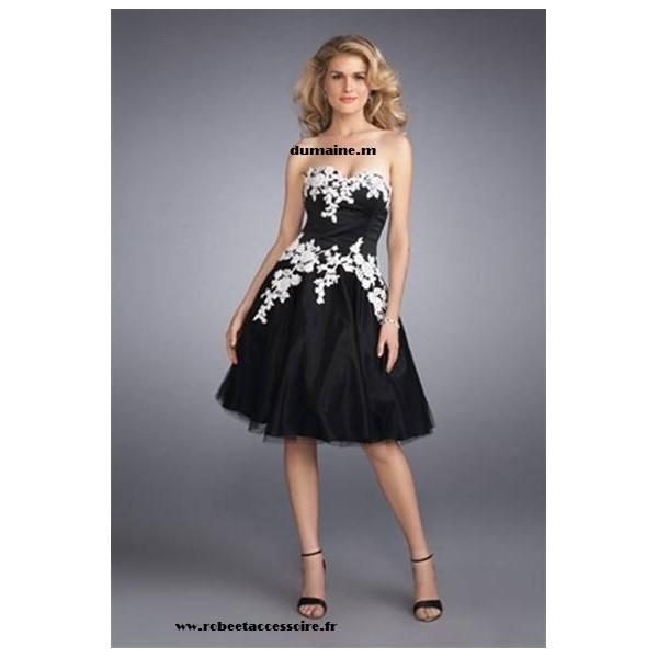 17775450135 Une robe soirée noire et blanche - La boutique de Maud